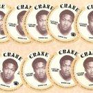 1976 Crane Potato Chips football disc card Greg Pruitt Cleveland Browns NM/M 9 cards