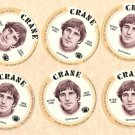 1976 Crane Potato Chips football disc card Greg Landry Detroit Lions NM/M 6 cards