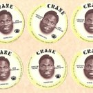 1976 Crane Potato Chips football disc card John Brockington Green Bay Packers 6 cards NM/M