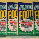 7 packs 1991 Fleer Football card wax packs, never opened, MINT, 14 cards each