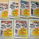 7 packs - 1988 Topps baseball card Cello packs, never opened, MINT, 28 cards per pack