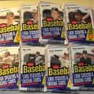 8 packs 1988 Fleer Baseball card CELLO packs, never opened, MINT, 28 cards each