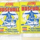 4 packs 1990 Score Baseball card wax packs, never opened, MINT, 16 cards each