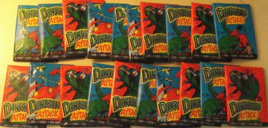20 packs Topps Dinosaurs Attack! non-sports cards wax packs , unopened, like Jurassic Park