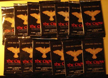 13 packs The Crow City of Angels non-sports cards packs, unopened, 8 cards/pack Brandon Lee