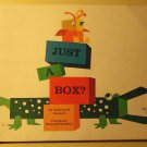 Just a Box? Scholastic children's SC book, 1968, Goldie Taub Chernoff