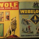 Wolf (1972) & Webelos (1973) Boy Scout books handbooks both w/ parents' supplement