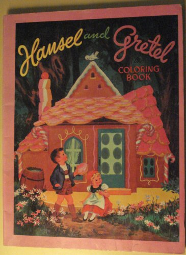 Hansel & Gretel coloring book, 1960's?, nice shape, unknown publisher
