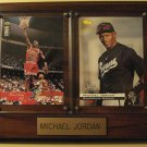 Michael Jordan Basketball & Baseball card plaque, 1994 Classic #1, 1995/96 Upper Deck #195