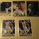 5 Jeff Bagwell baseball cards, various years & brands, NM/M