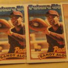 4 Sandy Alomar baseball cards, rookie, Topps, Upper deck, NM/M