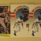 5 Harold Baines baseball cards, rookie, Topps, Donruss, Fleer