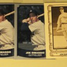 5 Joe DiMaggio baseball cards, 1980 & 1988 Baseball legends , NM/M New York Yankees