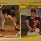 4 Scott Cooper baseball cards, rookie, Upper Deck, Fleer, Classic, NM/M