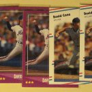 9 David Cone baseball cards, rookie, Score, Fleer, Donruss, NM/M