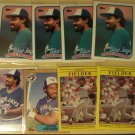 8 Cecil Fielder baseball cards, Fleer, Topps Upper Deck, NM/M