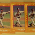 7 Tom Glavine baseball cards, rookie, Fleer, Score, NM/M