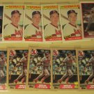 11 Wally Joyner baseball cards, rookie, Fleer, Topps, Sportflics, NM/M