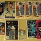 10 Bo Jackson baseball cards, Fleer, Topps, Upper deck, Bowman, NM/M