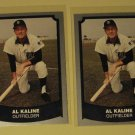 Two (2) 1988 Baseball Legends Al Kaline baseball card #104, NM, Detroit Tigers
