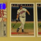 5 Ryan Klesko baseball cards, Upper Deck, Leaf, Donruss, NM/M