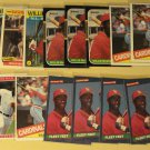 18 Willie McGee baseball cards, Donruss, Score, Topps, NM/M, St. Louis cardinals