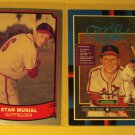 2 Stan Musial baseball cards, Baseball Legends, Donruss, NM/M, St. Louis Cardinals