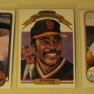 3 Joe Morgan baseball cards, Fleer, Donruss, NM/M