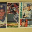5 Paul Molitor baseball cards, Topps, Donruss, NM/M