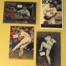 4 Hideo Nomo baseball cards, Topps, Pinnacle, Score, NM/M