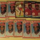 10 Terry Pendleton baseball cards, Fleer. Donruss, NM/M, St. Louis Cardinals