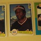 3 Frank Robinson baseball cards, Donruss, Baseball Legends,, NM/M