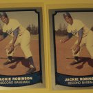 2 Jackie Robinson baseball cards, Baseball Legends, NM/M, Brooklyn Dodgers