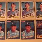 8 Bret Saberhagen baseball cards, Topps Rookie RC, Fleer, NM/M