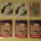 6 Red Shoendienst baseball cards, Donruss, Baseball Legends, NM/M