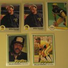 5 Willie Stargell baseball cards, Fleer, Donruss, NM/M