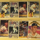8 Alan Trammell baseball cards, Donruss, Fleer, Topps, NM/M