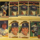 8 Fernando Valenzuela baseball cards, Donruss, Fleer, NM/M