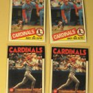 4 Andy Van Slyke baseball cards, 1985 & 1986 Topps, NM/M