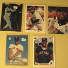 5 Mo Vaughn baseball cards, Upper Deck, Fleer, Topps, Leaf, NM/M