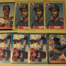 8 Devon White baseball cards, Donruss, Fleer, Topps, NM/M