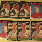 8 Todd Worrell baseball cards, Donruss, Topps, NM/M, St. Louis Cardinals