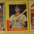 3 Carl Yaz Yastrzemski baseball cards, Donruss, Fleer, Impel, NM/M