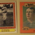 2 Cy Young baseball cards, TCG, Baseball's All-Time Greats, NM/M