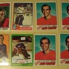8 Ed Giacomin Hockey cards, Topps, various years
