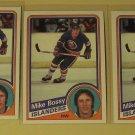 Five (5) 1984/85 Topps Mike Bossy Hockey card #91, New York Islanders