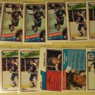 12 Dale Hawerchuk Hockey cards, Topps, various years