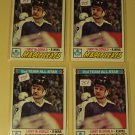 Four (4) 1977/78 Topps Lanny McDonald Hockey card #110, Toronto Maple leafs