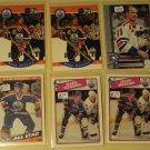 6 Mark Messier Hockey cards, Topps, Pro Set, Upper deck, NM/M