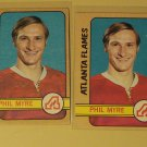 Four (4) 1972/73 Topps Phil Myre Hockey card #109, Atlanta Flames